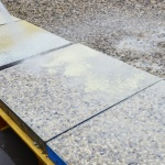 decorative floor exposed aggregate paving